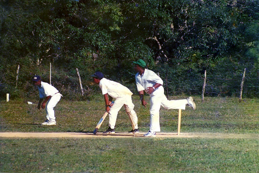 Law of the land: it is customary for non-strikers to crouch with their bat or foot rooted behind the crease until a call for a run is made