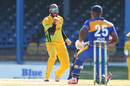 John Campbell celebrates the wicket of Kevin Stoute, Barbados v Jamaica, Nagico Super50 2016, Port-of-Spain, January 11, 2016