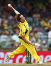 Joel Paris in delivery stride,  Australia v India, 1st ODI, Perth, January 12, 2016