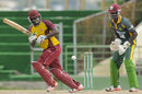 Montcin Hodge tucks one onto the leg side, Windward Islands v Leeward Islands, Nagico Super 50 2015-16, Basseterre, January 11, 2016