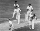 Fred Titmus hits a six, England v Australia, fifth Test, day four, The Oval, August 17, 1964
