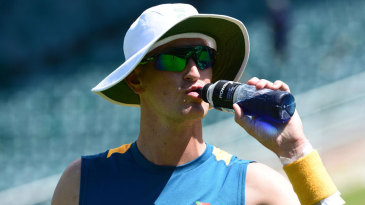 Chris Morris during practice at the Wanderers