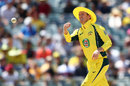 George Bailey sports a yellow floppy hat while fielding, Australia v India, 1st ODI, Perth, January 12, 2016