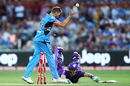 Tim Paine, Hurricanes' top scorer, was run out for 45, Adelaide Strikers v Hobart Hurricanes, Big Bash League 2015-16, Adelaide, January 13, 2016