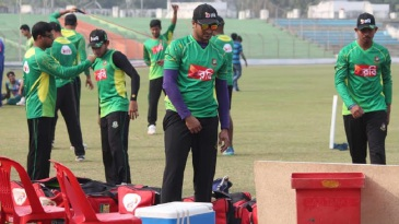The Bangladesh players tune up for the T20s against Zimbabwe