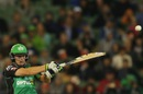 Evan Gulbis plays a pull during his fifty, Melbourne Stars v Brisbane Heat, Big Bash League 2015-16, Melbourne, MCG, January 14, 2016