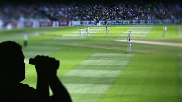 A fan watches the Ashes Test