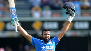 Rohit Sharma scored his second consecutive century
