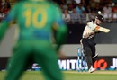 Colin Munro smacks one during his 27-ball 56, New Zealand v Pakistan, 1st T20I, Auckland, January 15, 2016