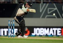Colin Munro plays a straight drive, New Zealand v Pakistan, 1st T20I, Auckland, January 15, 2016