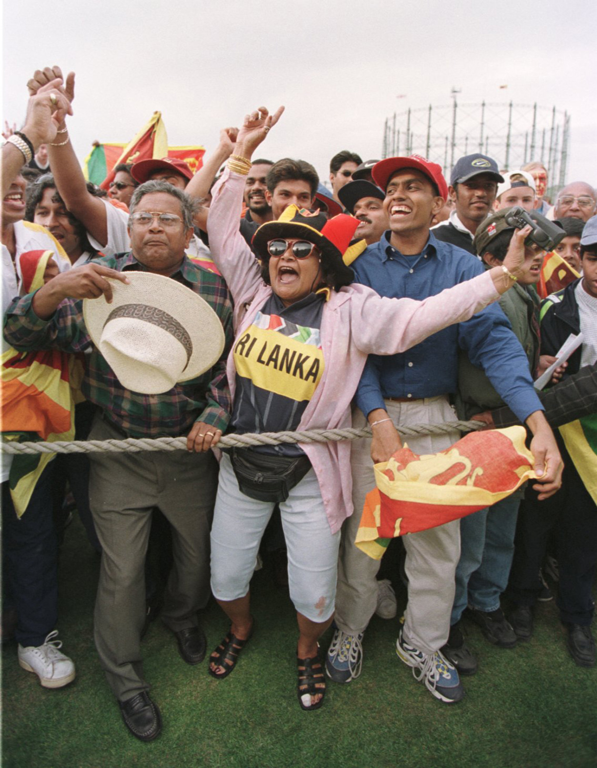 In fine voice: the fans at The Oval give it up for Murali and Co
