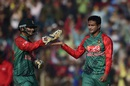Shakib Al Hasan picked up the wicket of Vusi Sibanda, Bangladesh v Zimbabwe, 1st T20I, Khulna, January 15, 2016