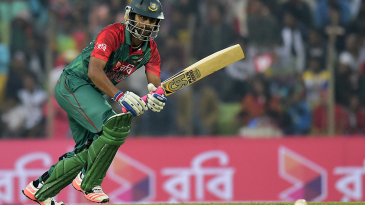 Tamim Iqbal steers the ball on to the leg side