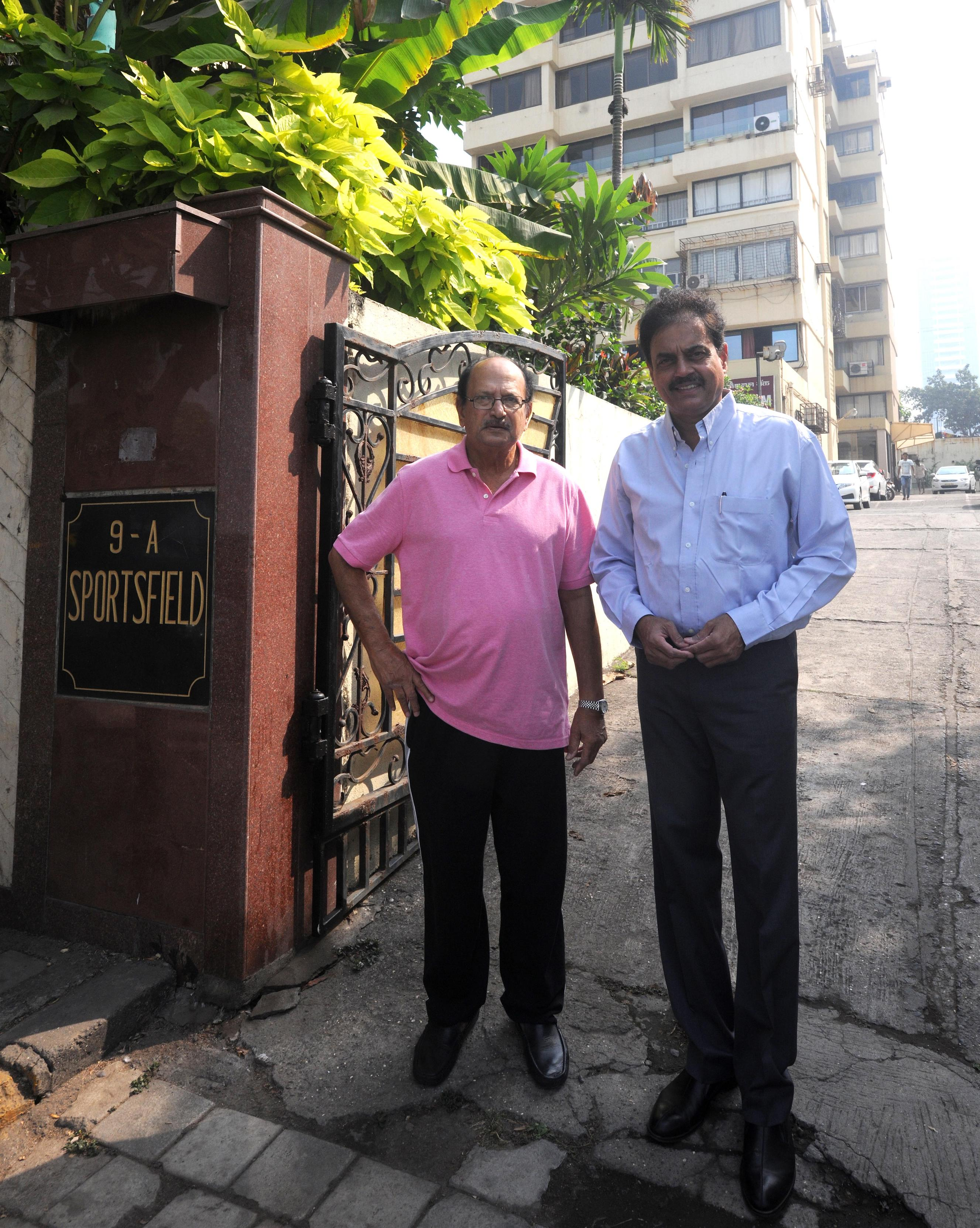 Ajit Wadekar and Dilip Vengsarkar: former Test captains and Sportsfield residents