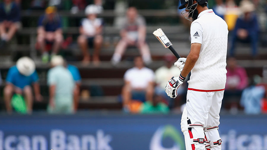 Moeen Ali's counterattack was delayed when Hardus Viljoen shattered his bat