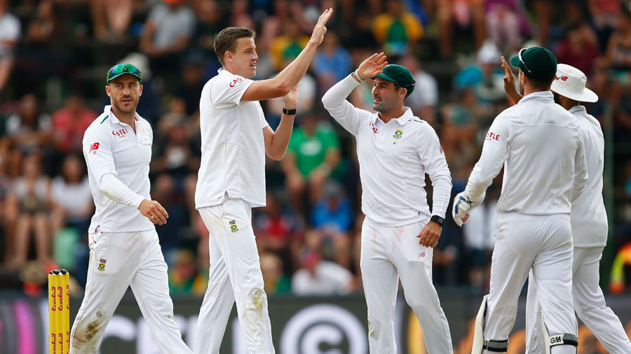 Morne Morkel removed Steven Finn for a duck as England took a slender 10-run lead