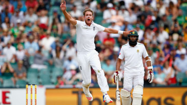 Stuart Broad conceded one run in his afternoon spell, and that came from a dropped catch off Stiaan van Zyl