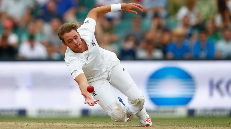 ... but Broad's diving catch after tea completed his stunning figures of 12.1-6-17-6