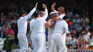 Stuart Broad during his Ashes-winning spell at The Oval in 2009
