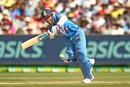 Ajinkya Rahane drives through midwicket, Australia v India, 3rd ODI, Melbourne, January 17, 2016
