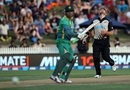 Umar Akmal steers the ball fine on the off side, New Zealand v Pakistan, 2nd T20I, Hamilton, January 17, 2016