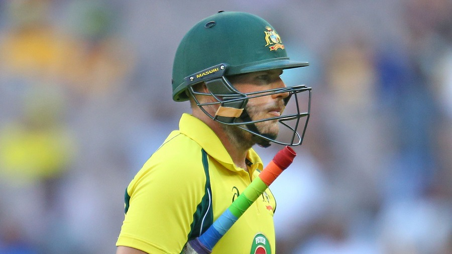 Australia lost Aaron Finch early in the chase, for 21
