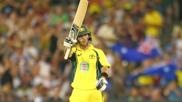 Glenn Maxwell acknowledges his fifty