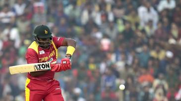 Hamilton Masakadza prepares to play a stroke