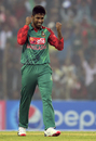 Shuvagata Hom is elated after taking his first T20I wicket, Bangladesh v Zimbabwe, 2nd T20I, Khulna, January 17, 2016