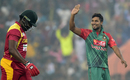 Sabbir Rahman picked up two key top-order wickets, Bangladesh v Zimbabwe, 2nd T20I, Khulna, January 17, 2016