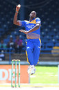 Jason Holder leaps in to deliver at the crease, Barbados v ICC Americas, Nagico Super50 2016, Port-of-Spain, January 13, 2016