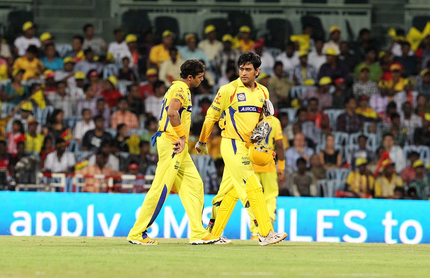 The captain's man: Jadeja shares a dressing room with Dhoni at Chennai Super Kings as well