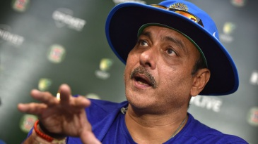 Ravi Shastri speaks to the media ahead of the fourth ODI