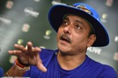 Ravi Shastri speaks to the media ahead of the fourth ODI, Canberra, January 19, 2016