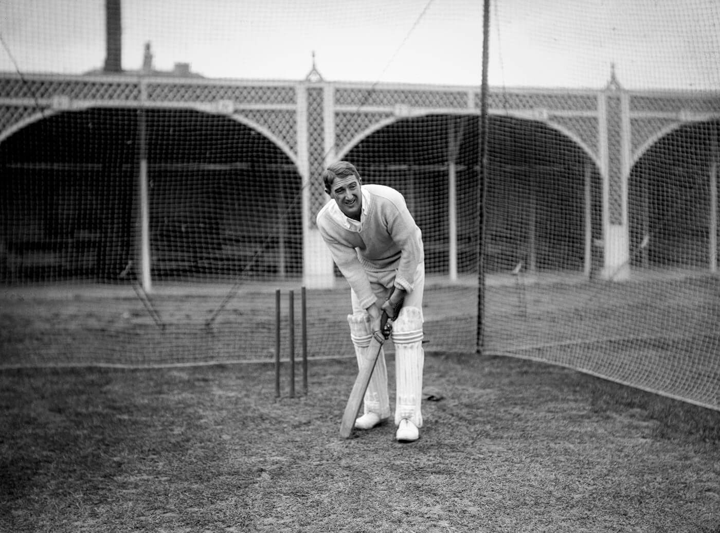 Aubrey Faulkner bats at the Lord's nets