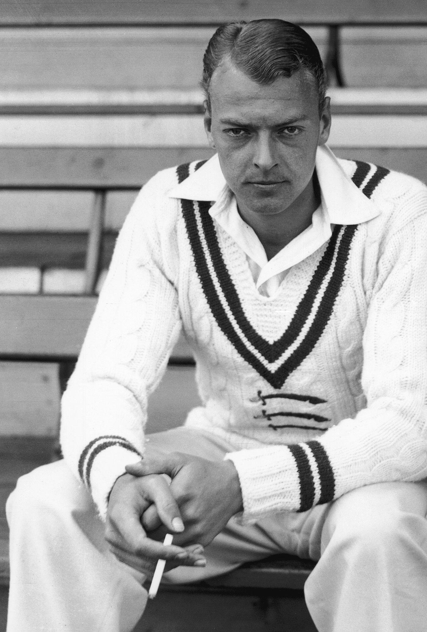 The England spinner Ian Peebles, Faulkner's protégé, whose progress Faulkner kept track of even during his darkest days