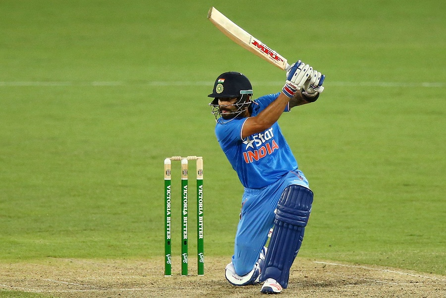Virat Kohli plays a cover drive | Photo | Australia v India | ESPN ...