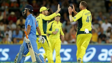 MS Dhoni was dismissed for a duck