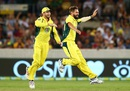 Kane Richardson is jubilant after taking a wicket, Australia v India, 4th ODI, Canberra, January 20, 2016