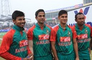 Mosaddek Hossain, Mukhtar Ali, Abu Hider and Mohammad Shahid on their debuts, Bangladesh v Zimbabwe, 3rd T20, Khulna, January 20, 2016