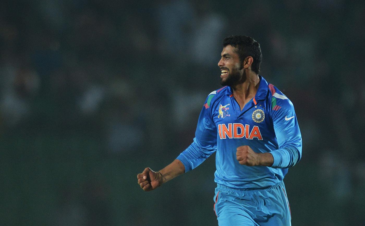 Ravindra Jadeja celebrates a wicket