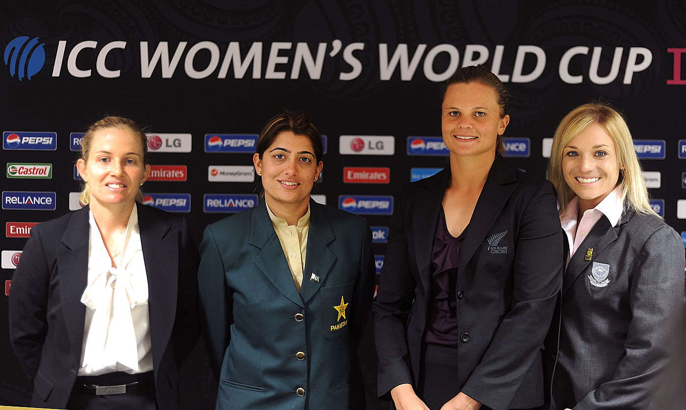 From left: Jodie Fields (Australia), Sana Mir (Pakistan), Suzie Bates (New Zealand) and Mignon du Preez (South Africa) have played five Tests between them. Bates and Mir are yet to play one