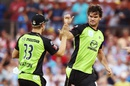 Clint McKay claimed three wickets but conceded 44 runs, Adelaide Strikers v Sydney Thunder, BBL 2015-16, 1st semi-final, Adelaide, January 21, 2016