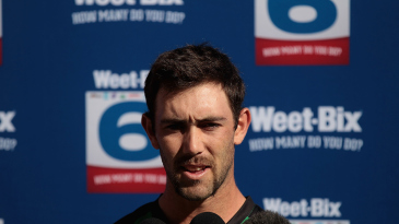 Glenn Maxwell speaks to the media
