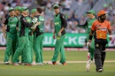 Stars celebrate the wicket of Michael Carberry, Melbourne Stars v Perth Scorchers, 2nd semi-final, BBL 2015-16, Melbourne, January 22, 2016