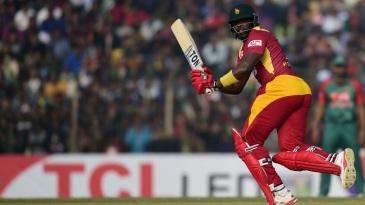 Hamilton Masakadza goes through the leg side