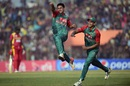 Abu Hider celebrates the wicket of Richmond Mutumbami, Bangladesh v Zimbabwe, 4th T20I, Khulna, January 22, 2016