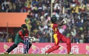 Richmond Mutumbami targets the leg side, Bangladesh v Zimbabwe, 4th T20I, Khulna, January 22, 2016