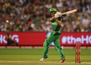 Marcus Stoinis plays a pull shot, Melbourne Stars v Perth Scorchers, 2nd semi-final, BBL 2015-16, Melbourne, January 22, 2016