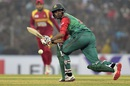 Mahmudullah nudges into the leg side, Bangladesh v Zimbabwe, 4th T20I, Khulna, January 22, 2016